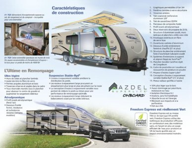 2015 Coachmen Freedom Express French Brochure page 9