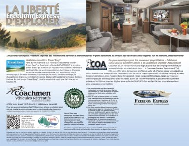 2015 Coachmen Freedom Express French Brochure page 12