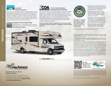 2015 Coachmen Freelander Brochure page 8