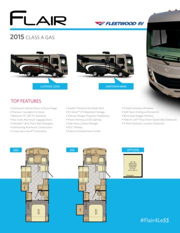 2015 Fleetwood Flair Brochure