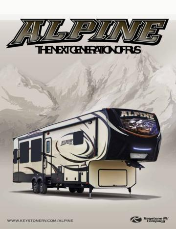 2015 Keystone RV Alpine Brochure