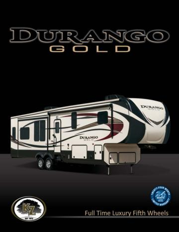 2015 KZ RV Durango Gold Brochure