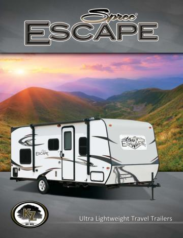 2015 KZ RV Spree Escape Brochure