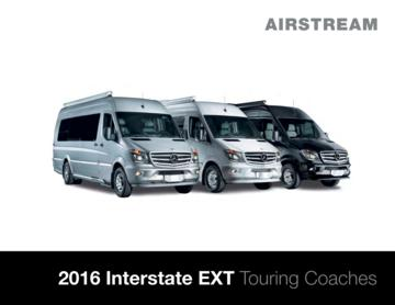 2016 Airstream Interstate 3500 Brochure