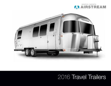 2016 Airstream Travel Trailers Brochure