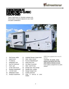 2016 ALP Adventurer Motor Home Owner's Manual page 9