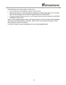 2016 ALP Adventurer Motor Home Owner's Manual page 25