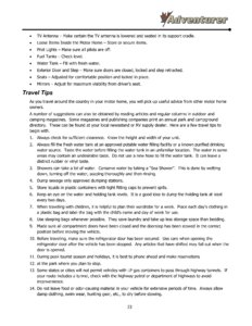2016 ALP Adventurer Motor Home Owner's Manual page 29