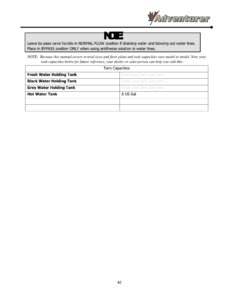 2016 ALP Adventurer Motor Home Owner's Manual page 48