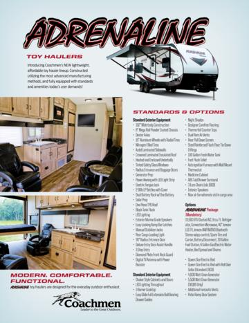 2016 Coachmen Adrenaline Brochure