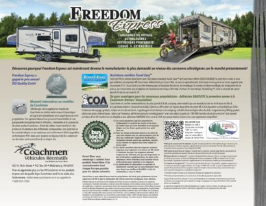 2016 Coachmen Freedom Express French Brochure page 16