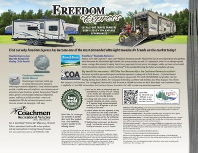 2016 Coachmen Freedom Express Brochure page 16