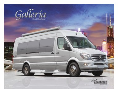 2016 Coachmen Galleria Brochure page 1