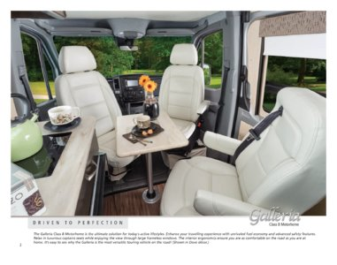 2016 Coachmen Galleria Brochure page 2