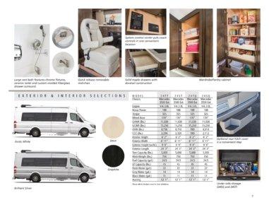 2016 Coachmen Galleria Brochure page 7