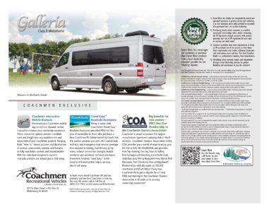2016 Coachmen Galleria Brochure page 8