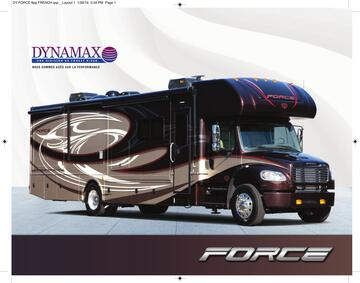 2016 Dynamax Force French Brochure