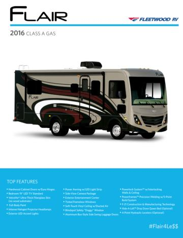 2016 Fleetwood Flair Brochure