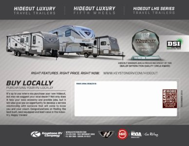 2016 Keystone RV Hideout West Brochure page 16