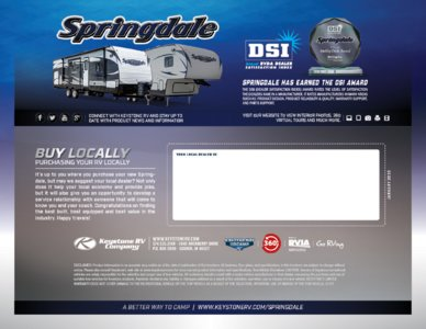 2016 Keystone RV Springdale West Brochure page 16