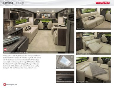 2016 Winnebago Cambria Brochure page 3