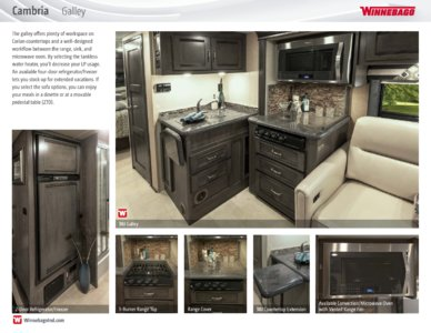 2016 Winnebago Cambria Brochure page 5