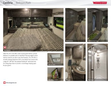 2016 Winnebago Cambria Brochure page 6