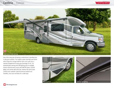 2016 Winnebago Cambria Brochure page 9