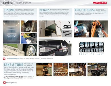 2016 Winnebago Cambria Brochure page 12