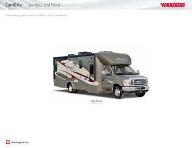 2016 Winnebago Cambria Brochure page 19