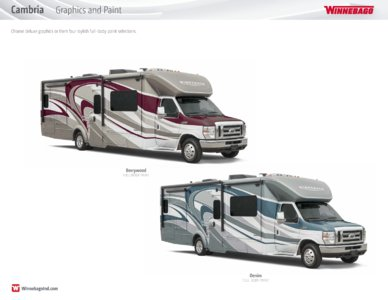 2016 Winnebago Cambria Brochure page 20