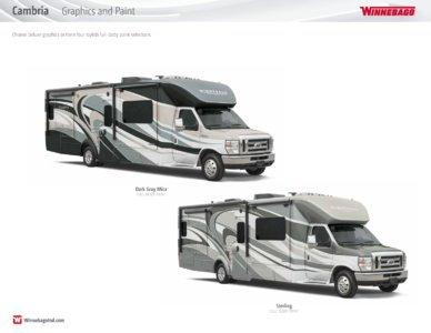2016 Winnebago Cambria Brochure page 21