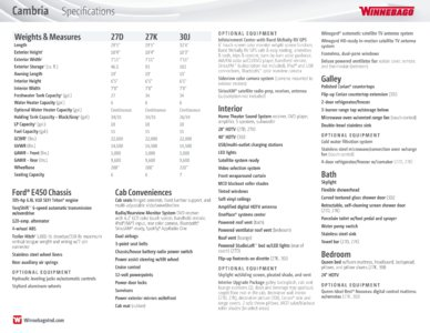 2016 Winnebago Cambria Brochure page 22