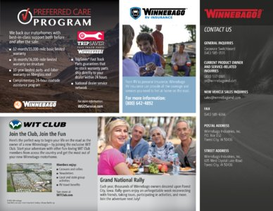 2016 Winnebago Cambria Brochure page 25