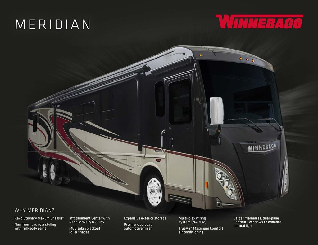 2016 Winnebago Meridian Brochure Rv Brochures Download Ac Wiring