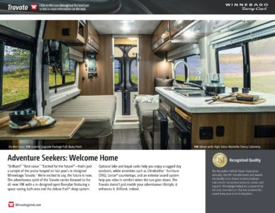 2016 Winnebago Travato Brochure page 2