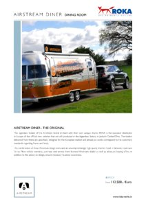 2017 Airstream Diner Dining Room Europe Brochure page 1