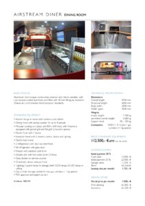 2017 Airstream Diner Dining Room Europe Brochure page 2