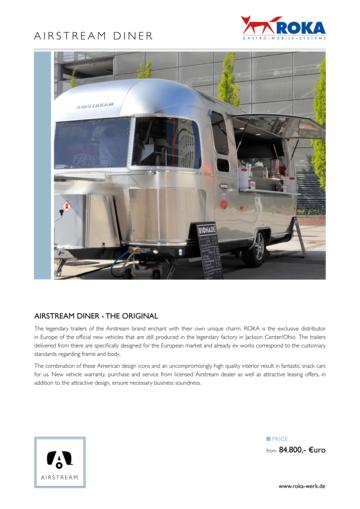 2017 Airstream Diner Europe Brochure