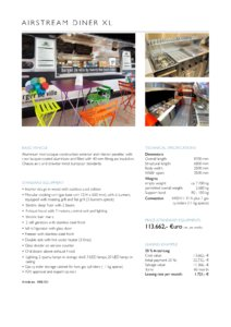 2017 Airstream Diner XL Europe Brochure page 2