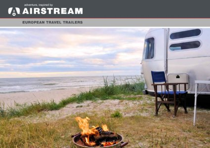 2017 Airstream European Travel Trailers French Brochure page 1