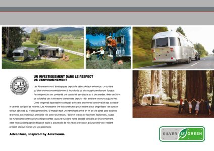 2017 Airstream European Travel Trailers French Brochure page 3
