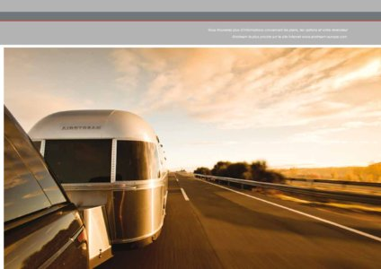 2017 Airstream European Travel Trailers French Brochure page 13