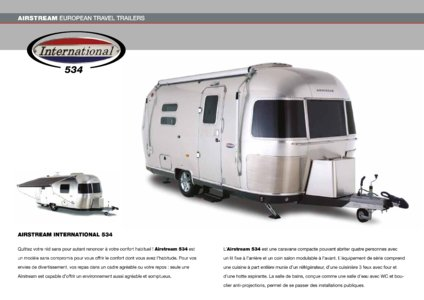 2017 Airstream European Travel Trailers French Brochure page 14