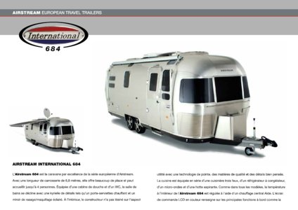 2017 Airstream European Travel Trailers French Brochure page 20