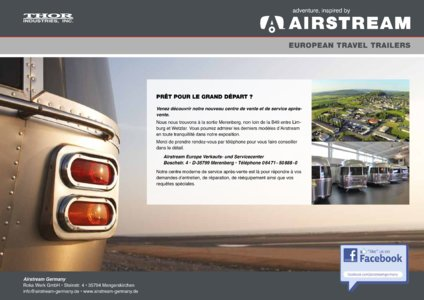 2017 Airstream European Travel Trailers French Brochure page 36