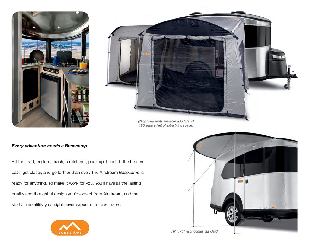 Page 5  sc 1 st  RV literature & 2017 Airstream Travel Trailer Basecamp Brochure | RV literature