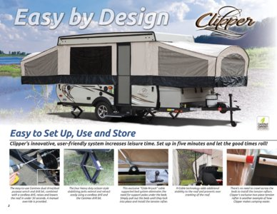2017 Coachmen Clipper Camping Trailer Brochure page 2