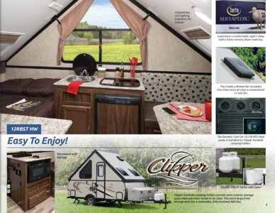 2017 Coachmen Clipper Camping Trailer Brochure page 5