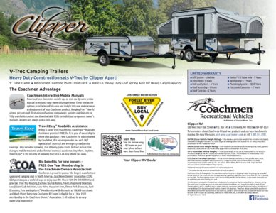 2017 Coachmen Clipper Camping Trailer Brochure page 8